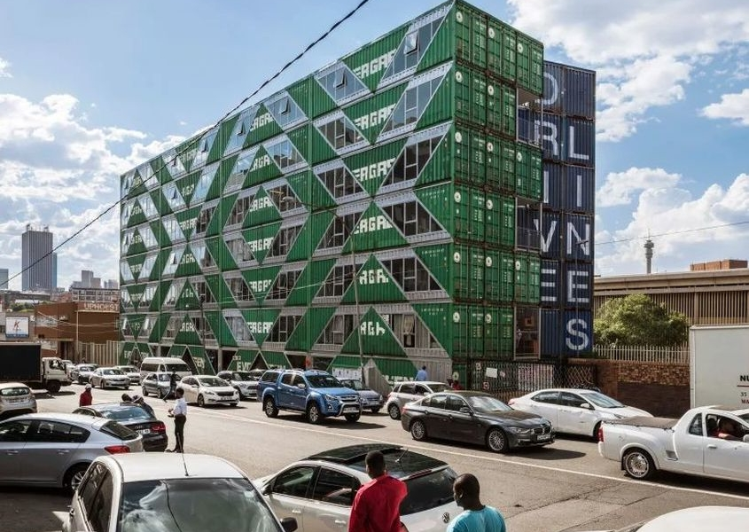 Drivelines Studios in South Africa Comprises of 140 Upcycled Shipping Containers