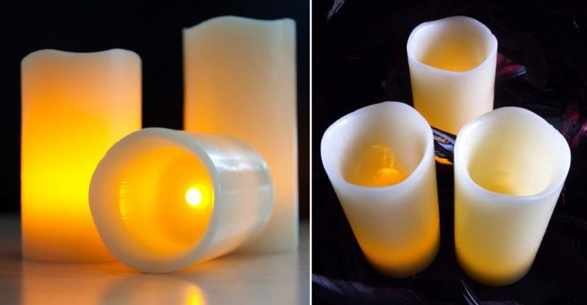 Flameless Moon Candles