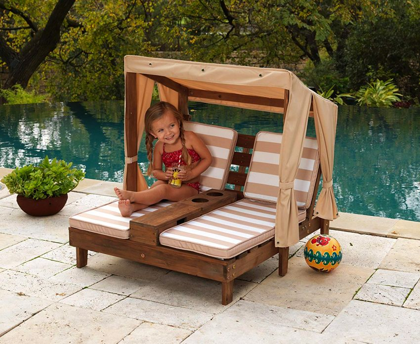 KidKraft Double Chaise lounge for outdoors