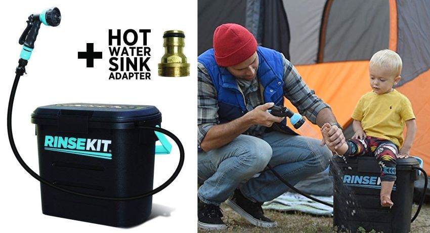 RinseKit portable outdoor shower