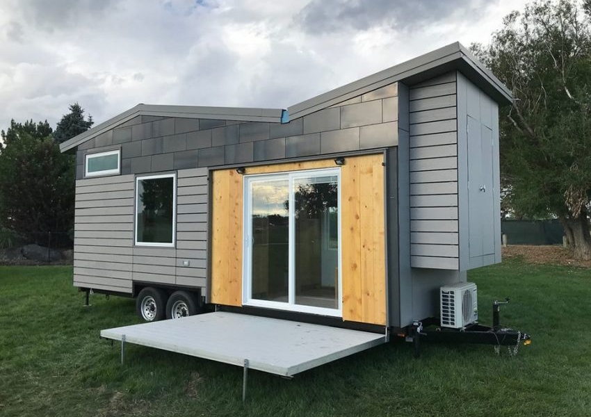 69k Tiny House on Wheels with Fold-in Murphy Bed and Deck
