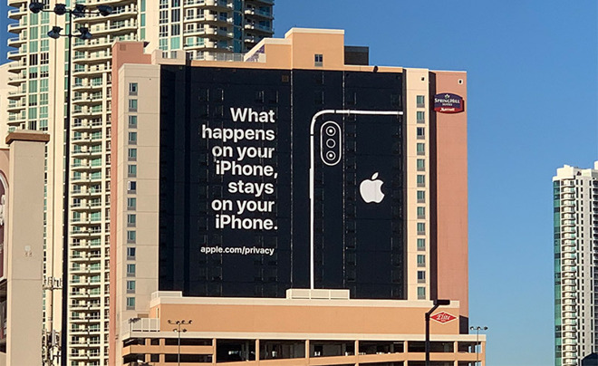 Apple Advertisement at CES 2019