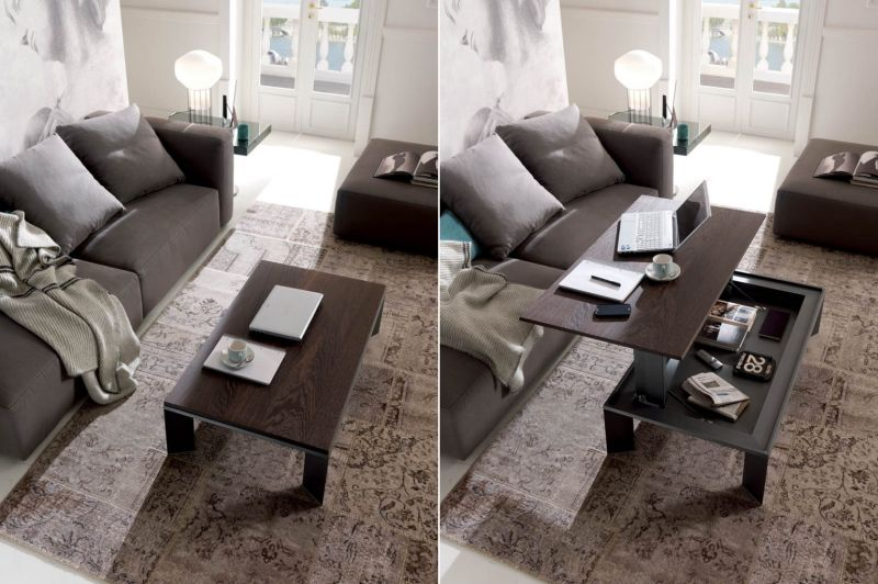 Ozzio Italia's Metrina Height-Adjustable Coffee Table