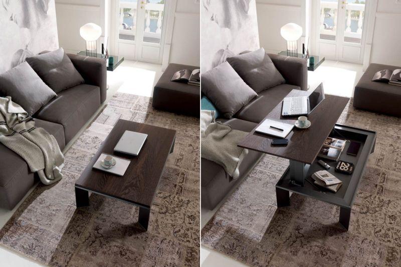 Ozzio Italia S Metrino Height Adjustable Coffee Table