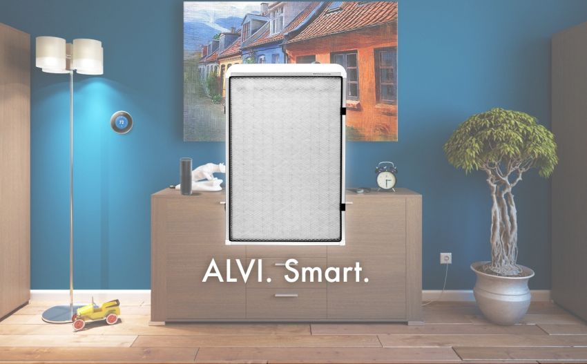 CleanAir's ALVI Smart Furnace Filter Notifies You to Change Cartridge