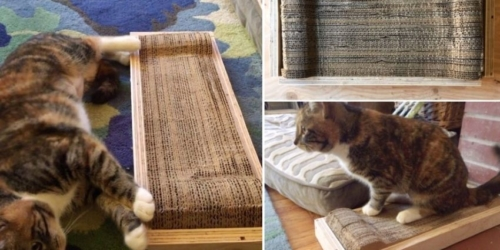 Easy-to-Make Cardboard Cat Scratching Pad