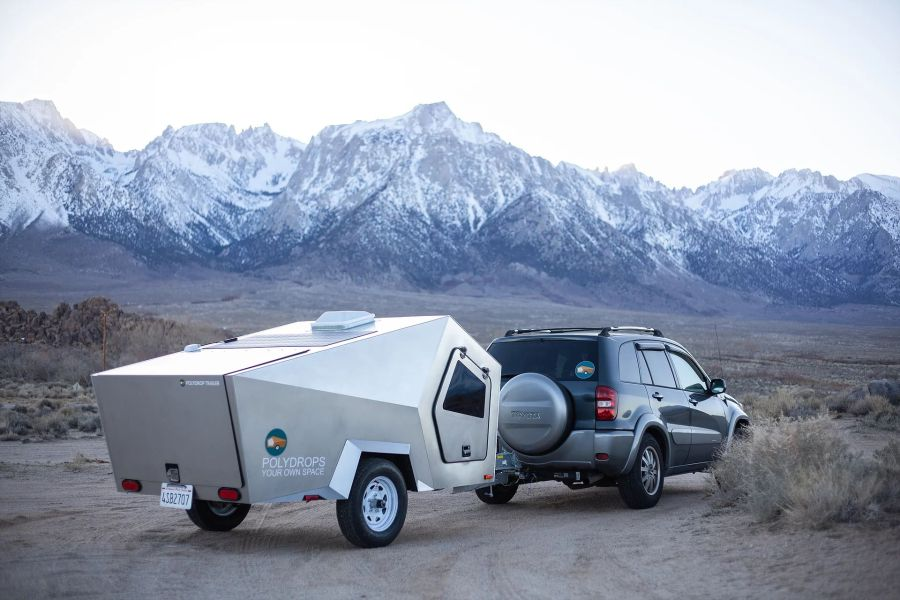 Polydrop Teardrop Trailer Features Unique Angular Design