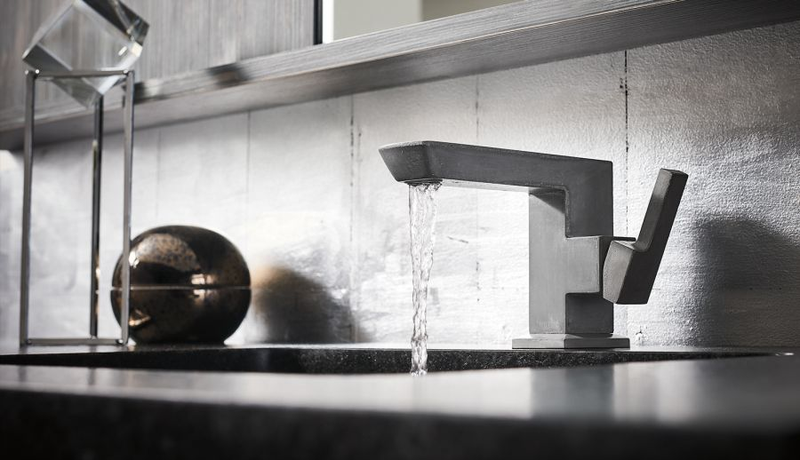 Christopher Shannon Designs Vettis Concrete Bathroom Faucet for Brizo