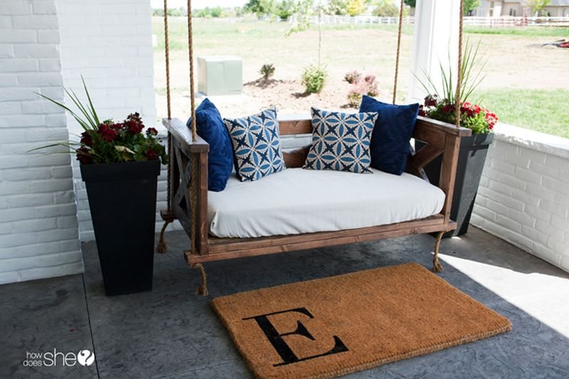 15+ DIY Swing Bed Plans and Design Ideas for Your Porch