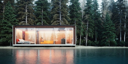 Michele Perlini's NO.MADE Glass-Fronted Prefab House
