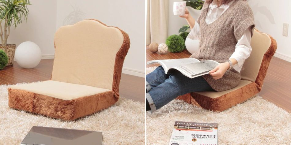 Toast-Shaped Chair by Nitori