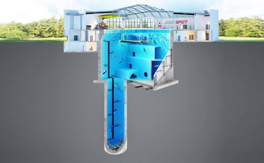 World's Deepest Pool in Poland to have Underwater Tunnel and Hotel Rooms_51