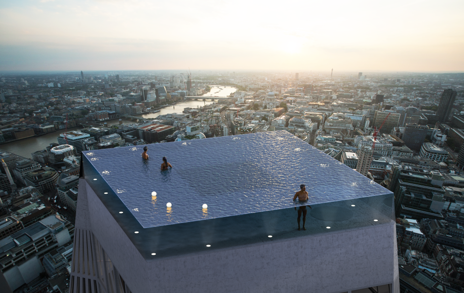 London to Have World's First Infinity Pool on the Top of a 55-storey building