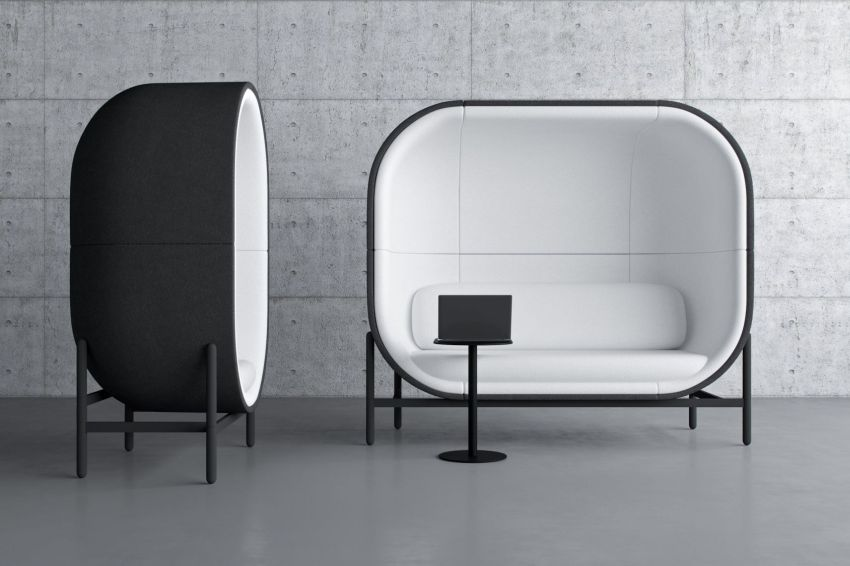 Kateryna Sokolova Designs Capsule Office Furniture Pod for Casala