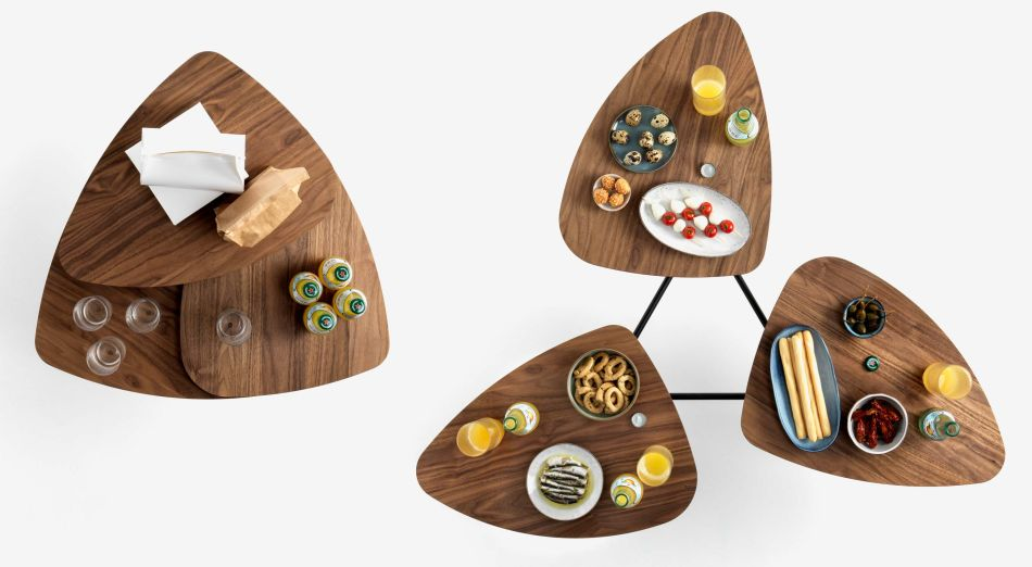 Klybeck's 63 Modular Coffee Table Features Three Tabletops