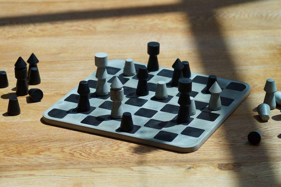 Pierre-Marie Bagot's Failure Concrete Chess Set is Ideal for Brutalism Fans