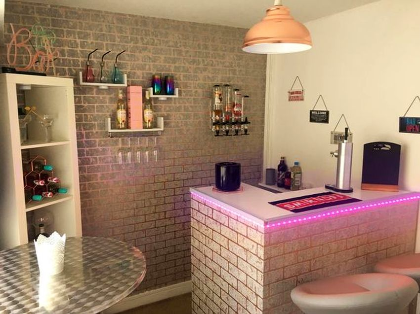Mom Builds for Herself Ultimate Woman Cave Bar for $508