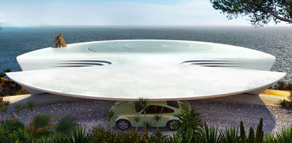 David Tajchman Conceives Futuristic Oceanside Pool House