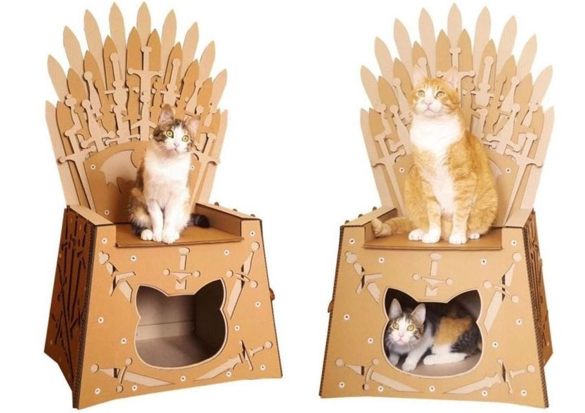 Iron Throne Cardboard Cat House