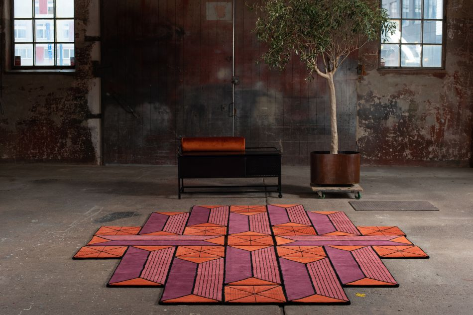 Ashton Shape Shifting Rug Can be Arranged in Various Forms
