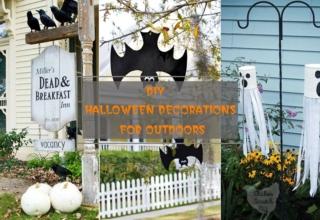DIY outdoor Halloween decorations