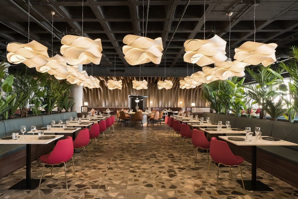 Garden of Hesperides Inspired Ladon Grill Restaurant Creates Dreamlike Atmosphere