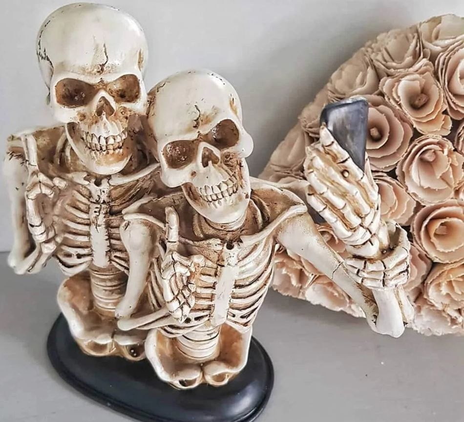 Take Home Pair of Selfie Skeletons for Fright Night
