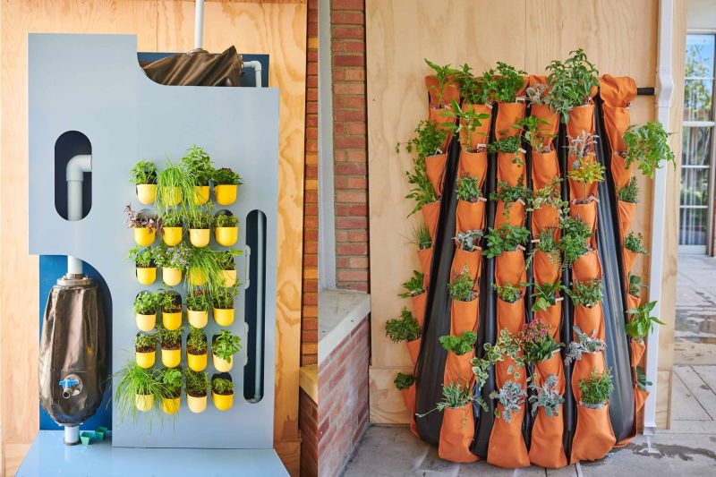 Succulent Wall Rainwater Storage System Doubles as Gardening Unit