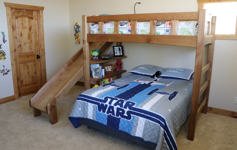 Woodworker Dad Builds Ultimate Bunk Bed with Slide