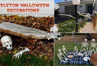 skeleton halloween decorations