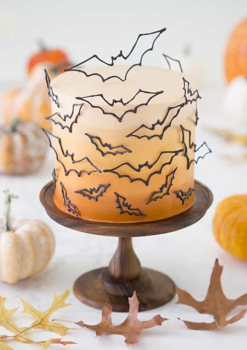 Bat Halloween Cake