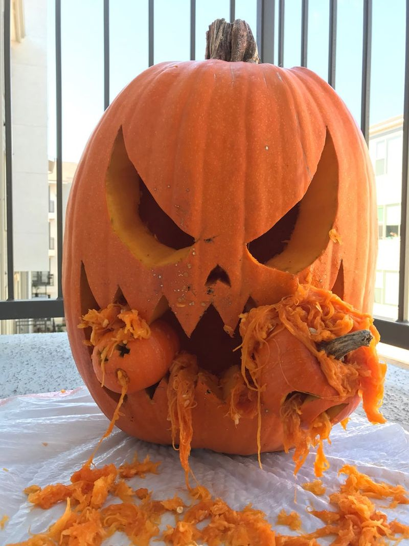 Carved Cannibal Pumpkin