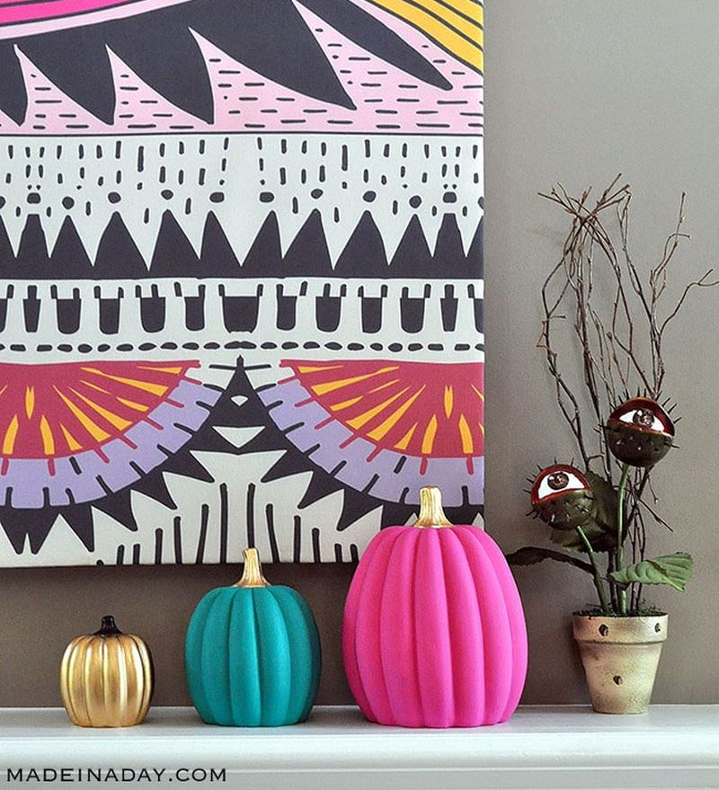 DIY Boho Chic Painted Pumpkins