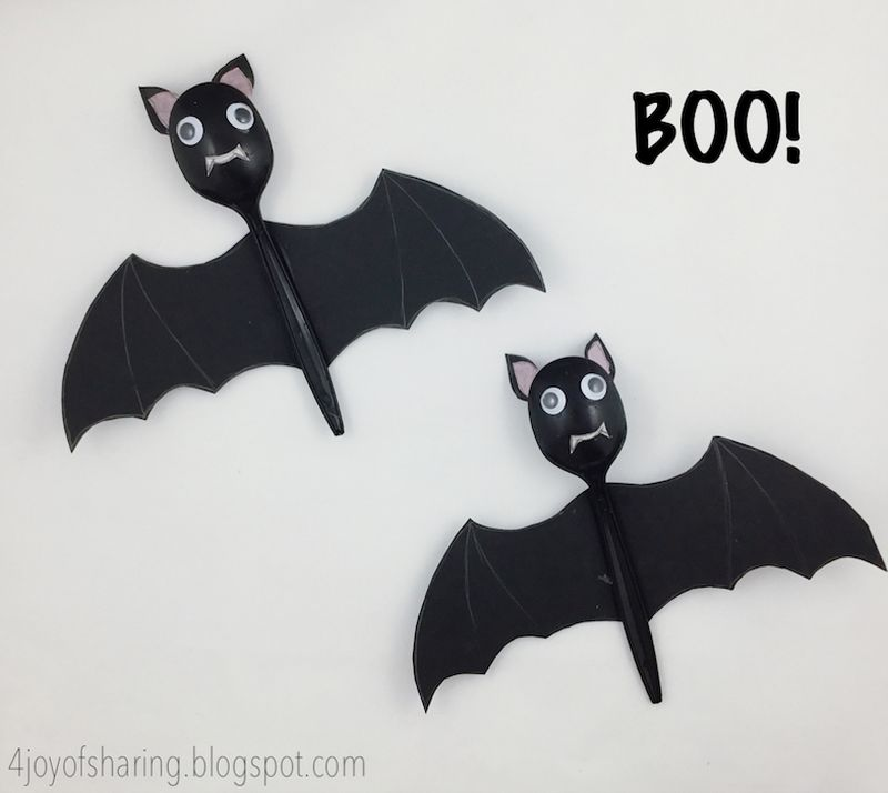 DIY bats for Halloween