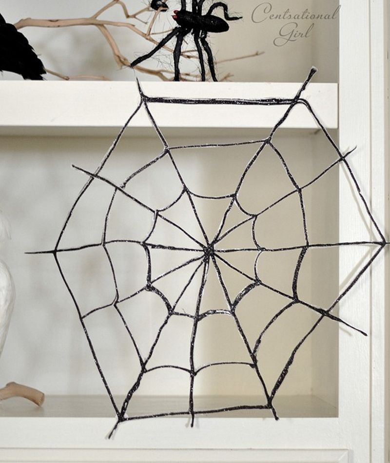 DIY hot glue spider webs_1