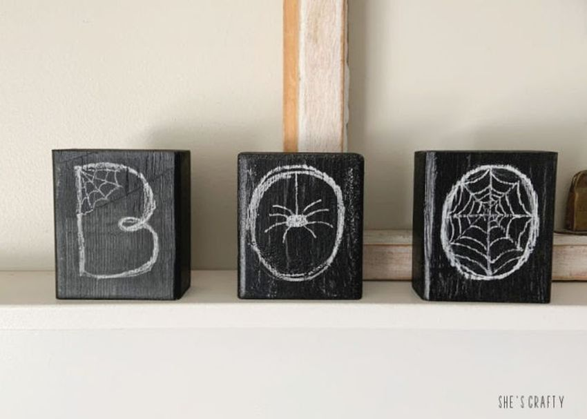 DIYer Shares Easiest Way to Make Halloween Chalkboard Signs