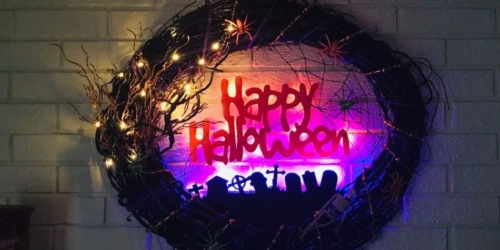 DIYer Shows How to Make a Lighted Halloween Wreath by Yourself