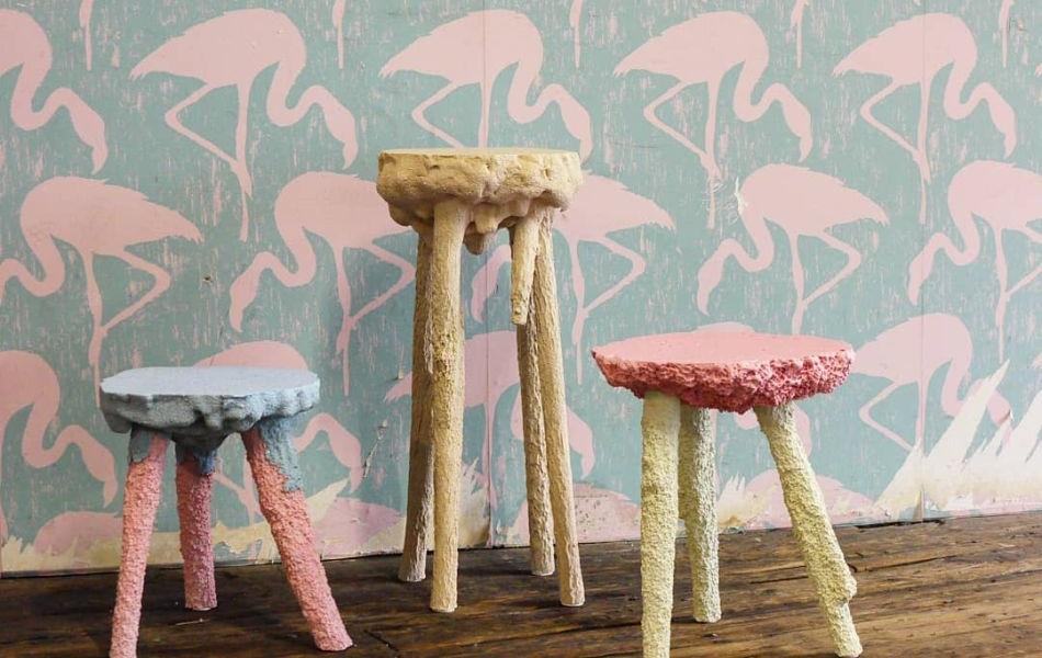 Gavin Keightley Designs Terraform Furniture Cast in Moulds of Food