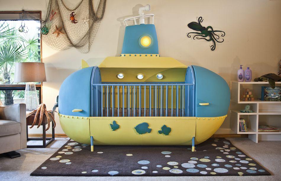 Man Builds Amazing Submarine-Inspired Crib