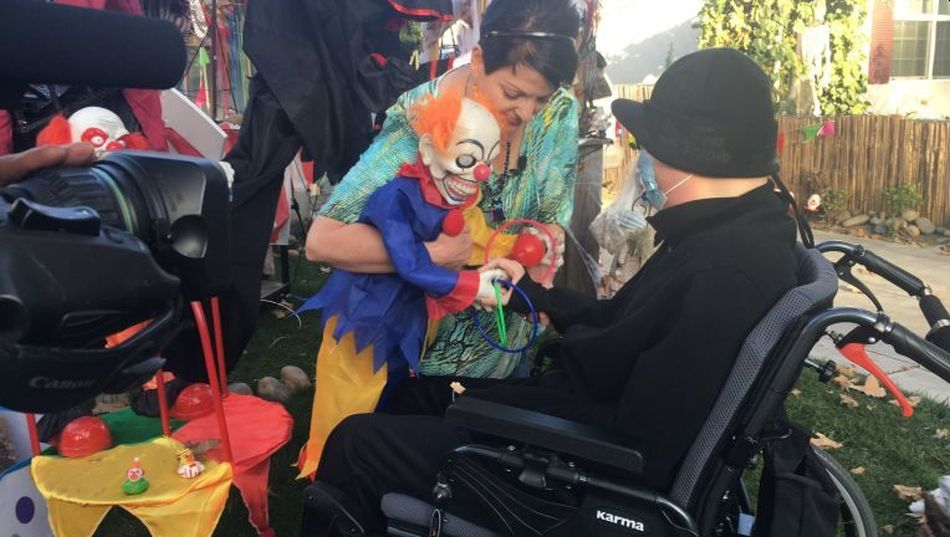 Mom Creates Clown Carnival Display Outside Home for Terminally Ill Son