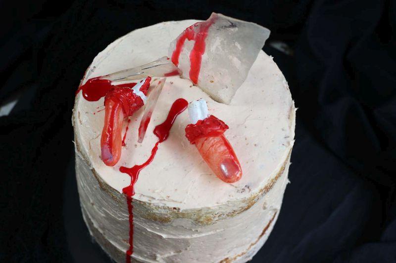 Severed finger cake