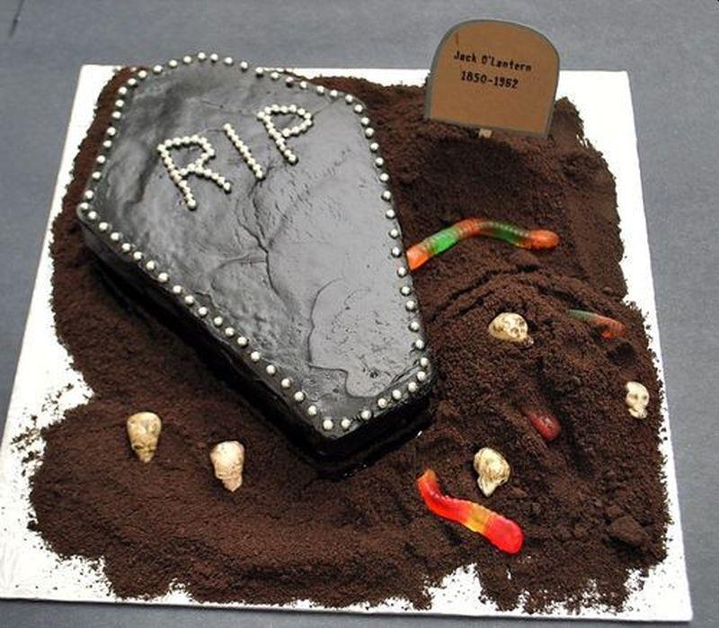 Coffin Halloween Cake