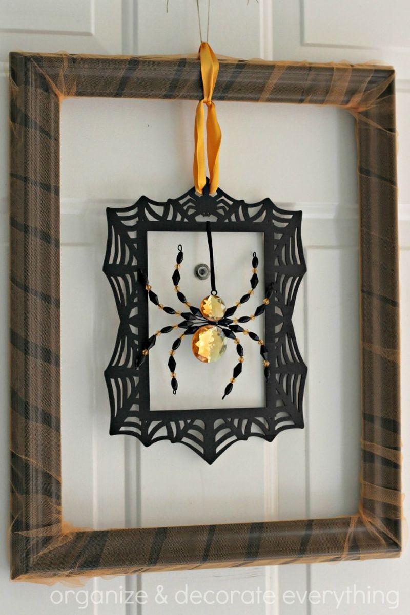 Spider Frame Halloween Wreath