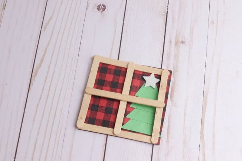 Christmas decoration from popsicle