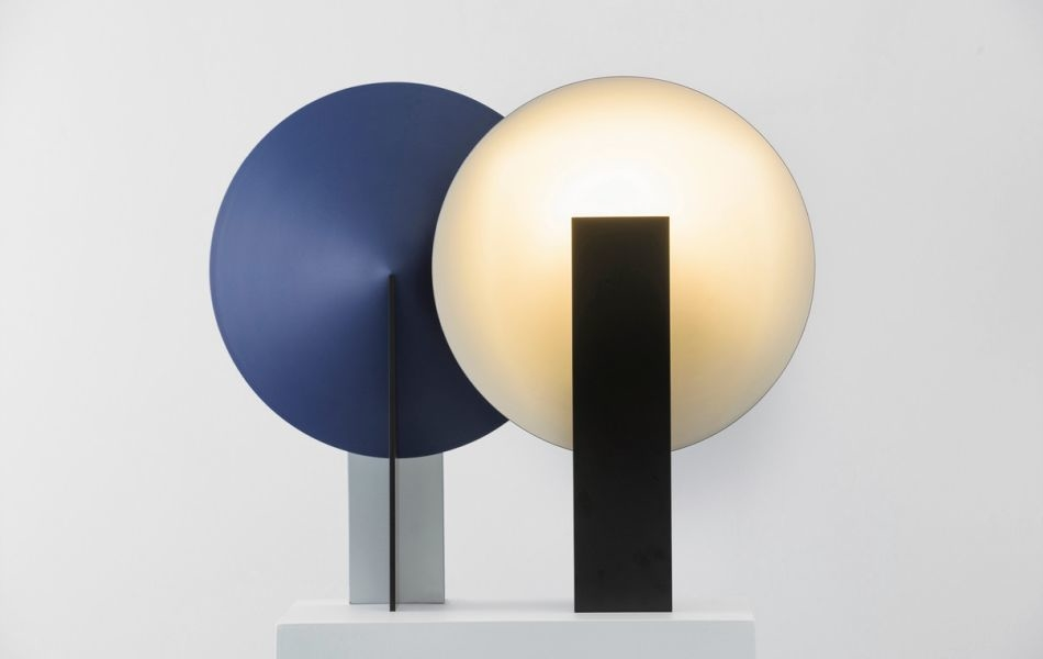 Classic Geometric Design of Orbe Table Lamp Provides Soft Illumination