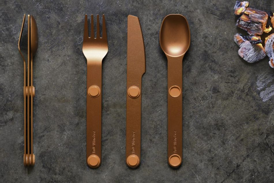 Magware Magnetic Flatware is Lightweight Non-Disposable Set of Cutlery