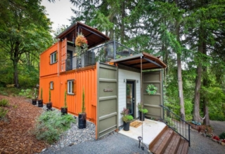 Couple Builds Amazing Two-Story Shipping Container Home for $80k