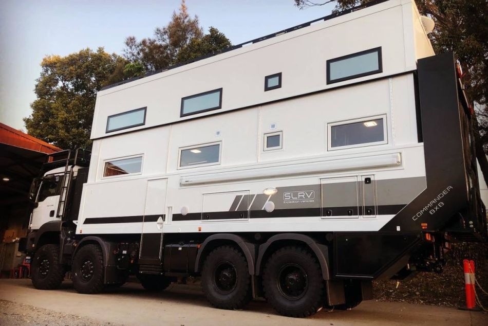 SLRV Commander 8x8 Two-Story Motorhome Gives Luxurious Off-Grid Living Experience