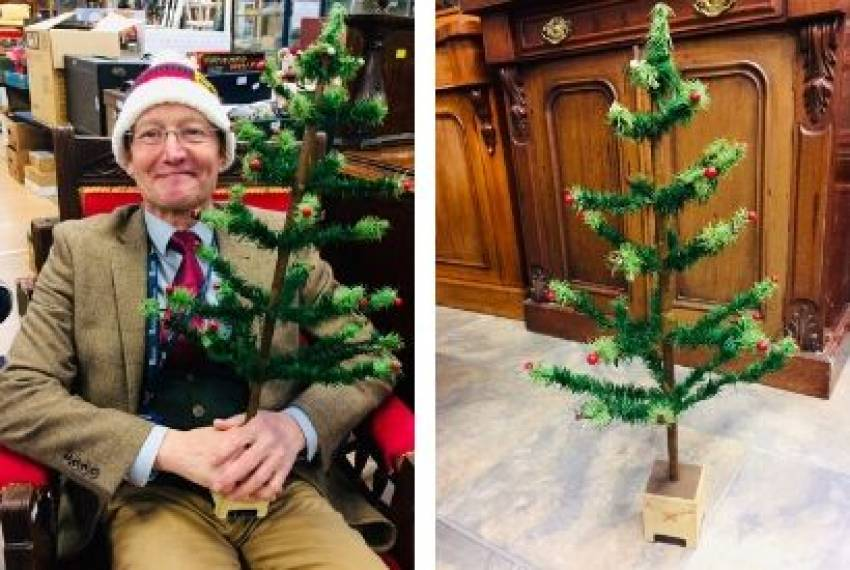 Vintage Christmas Tree Made of Toilet Brush Bristles Sold at £150