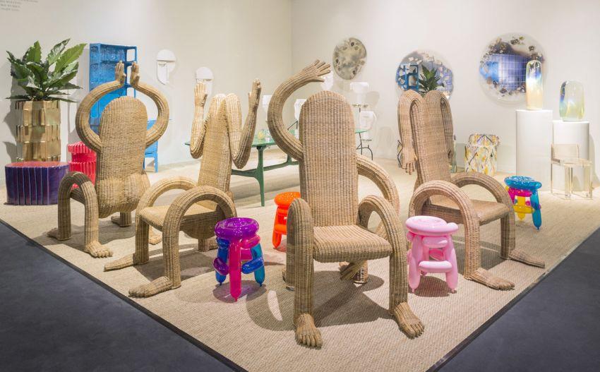 Chris Wolston Designs Nalgona Wicker Chairs in Shape of Humans